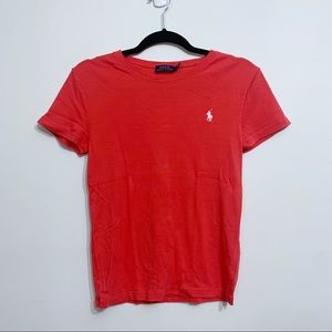 Polo Ralph Lauren Coral Fitted Short Sleeve Tee